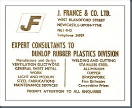 J France and Company advert 1970s